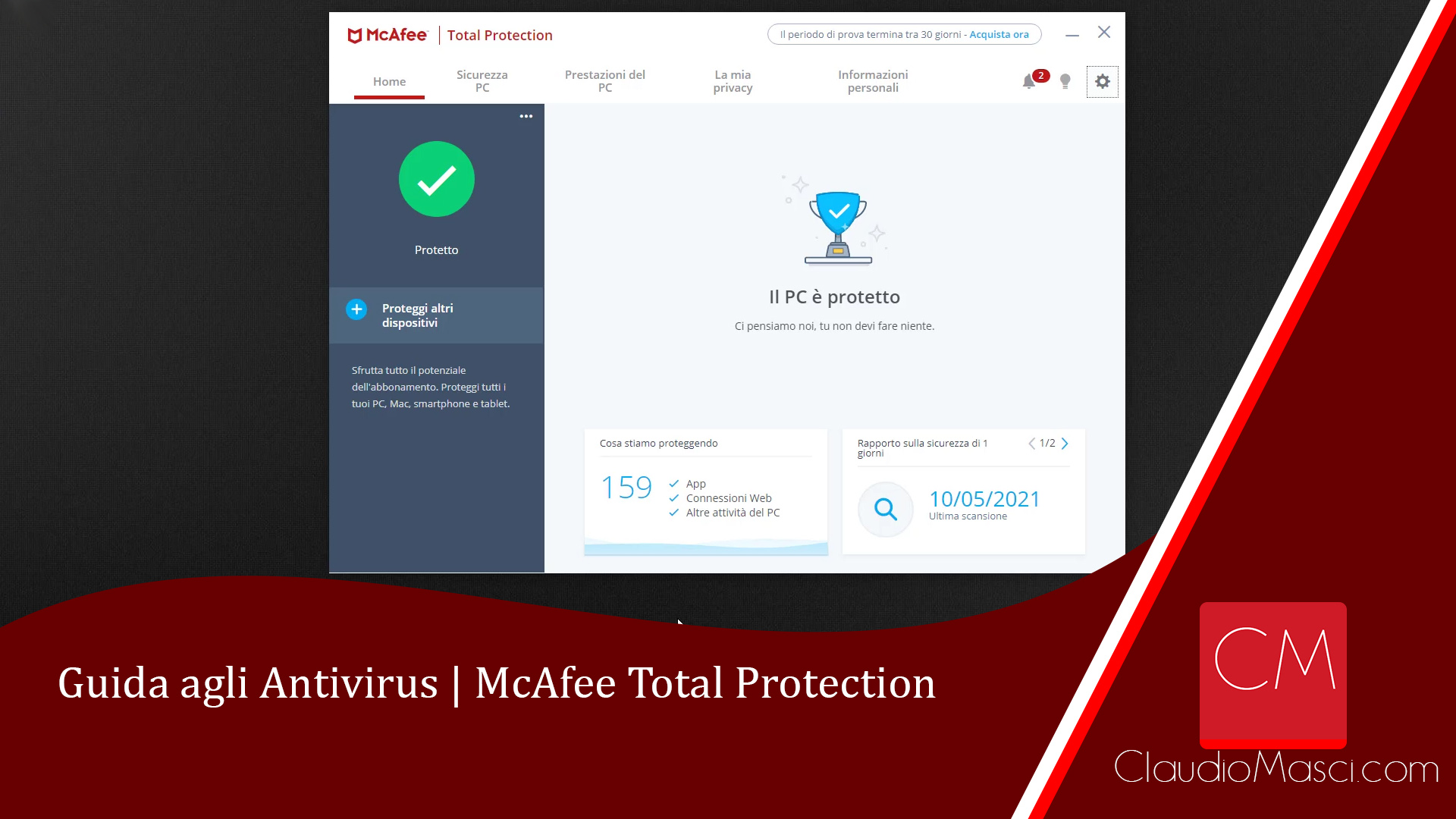 Guida agli Antivirus - McAfee Total Protection