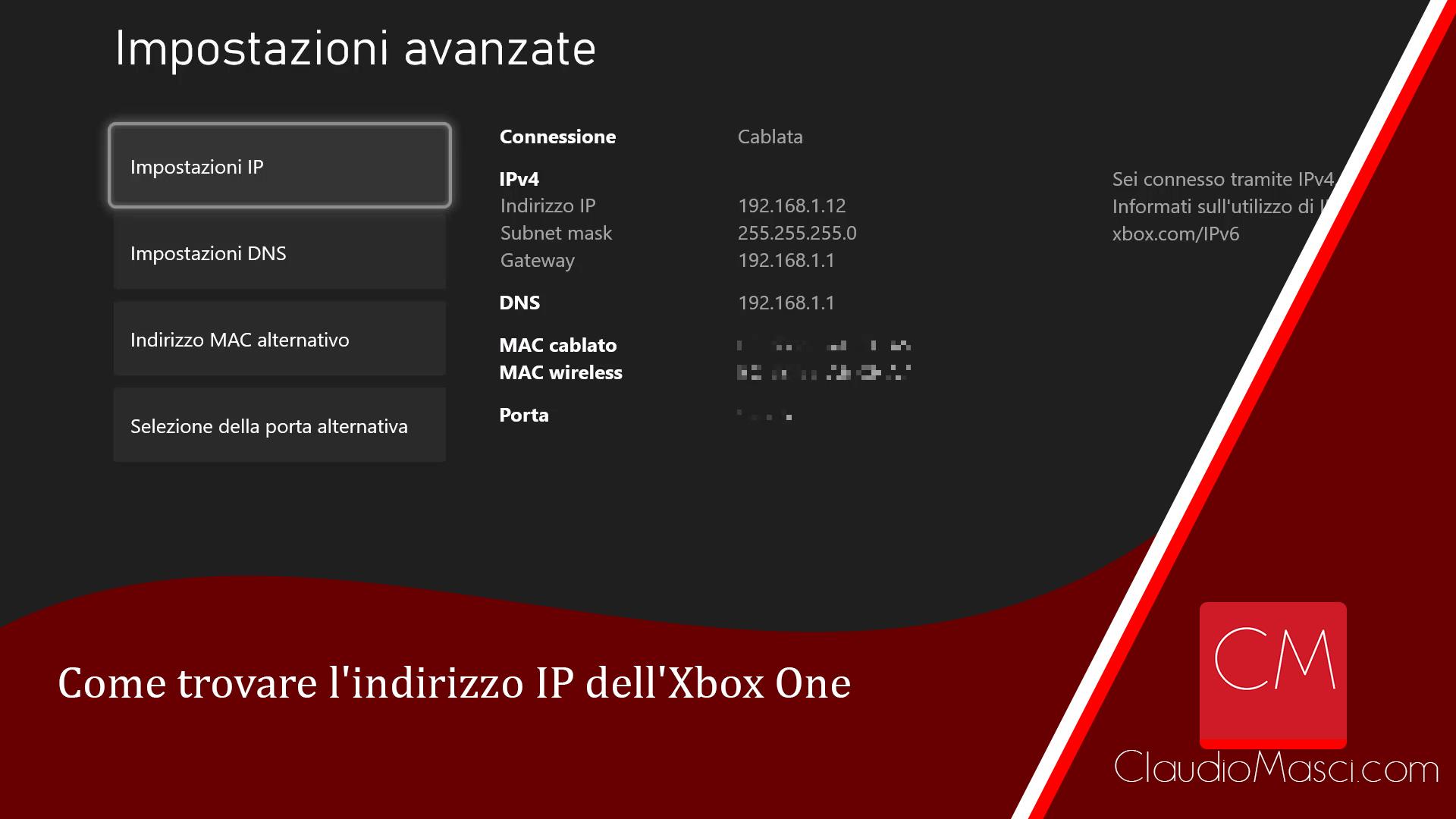 Come trovare l'indirizzo IP dell'Xbox One