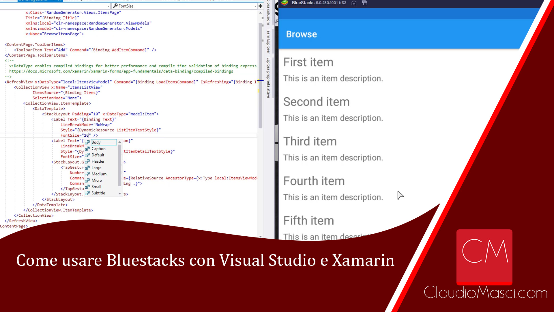Come usare Bluestacks con Visual Studio e Xamarin