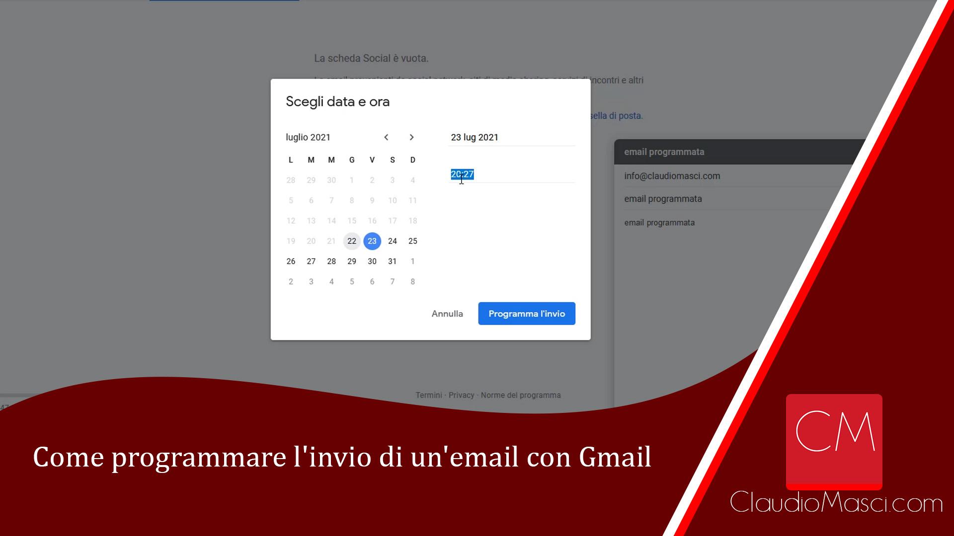 Come programmare l'invio di un'email con Gmail