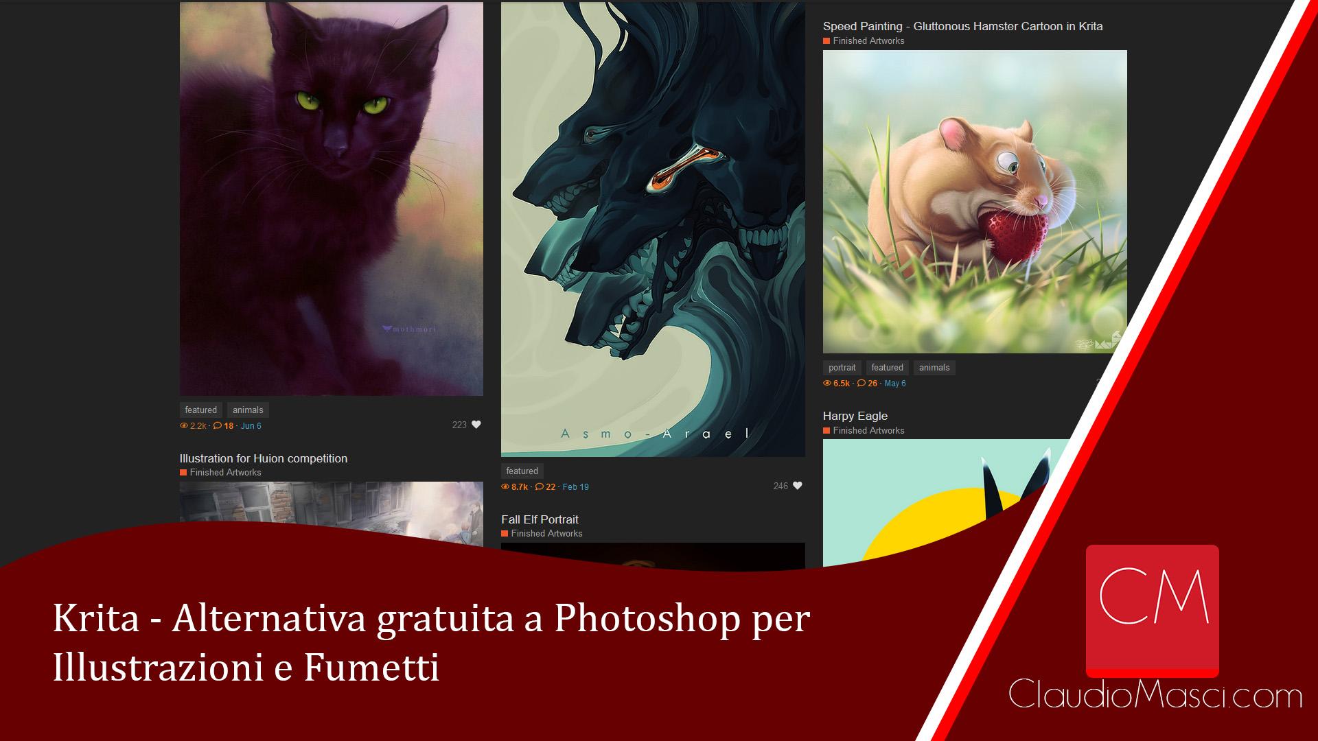 Krita – Alternativa gratuita a Photoshop per Illustrazioni e Fumetti