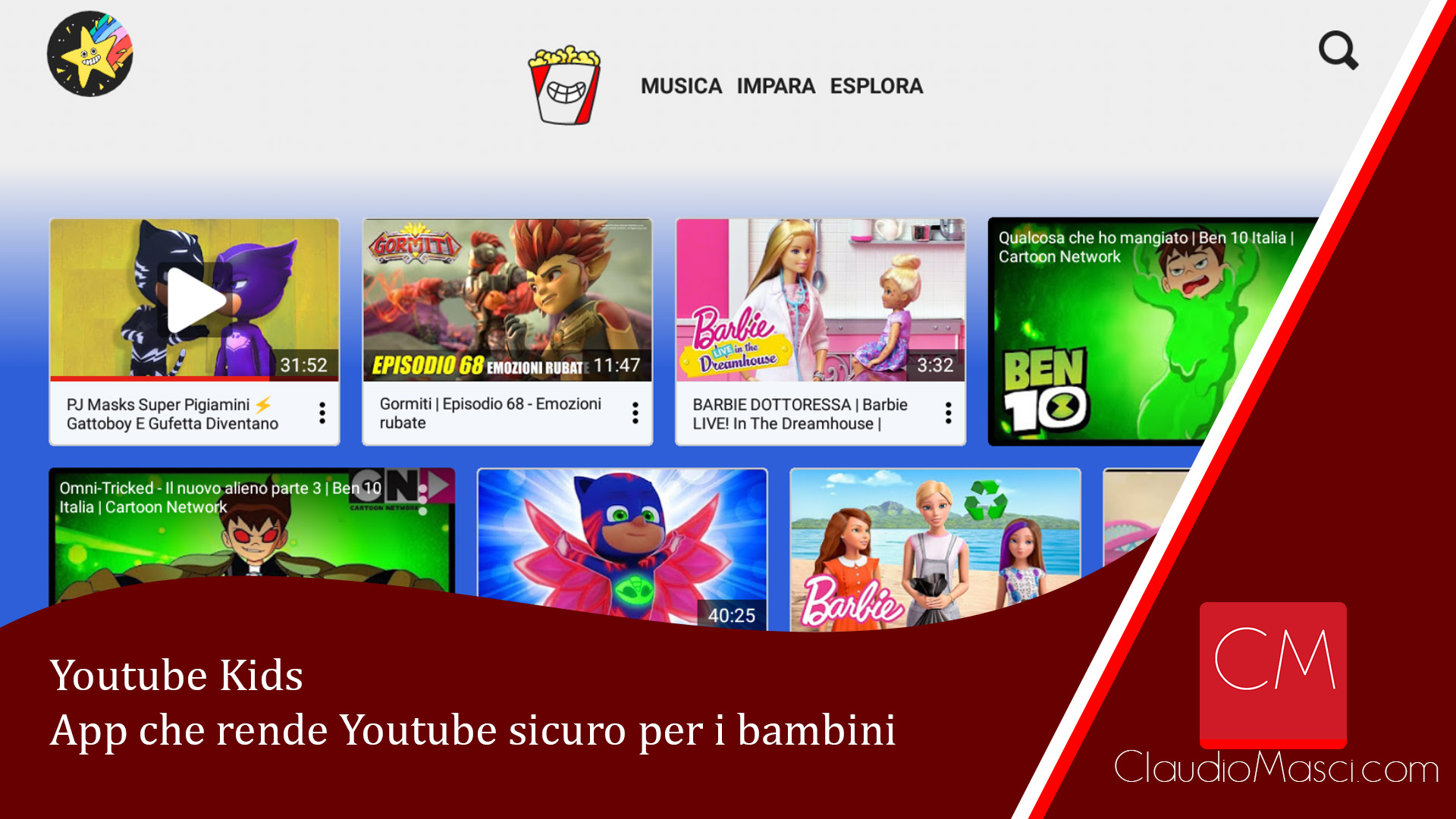 Youtube Kids – App che rende Youtube sicuro per i bambini