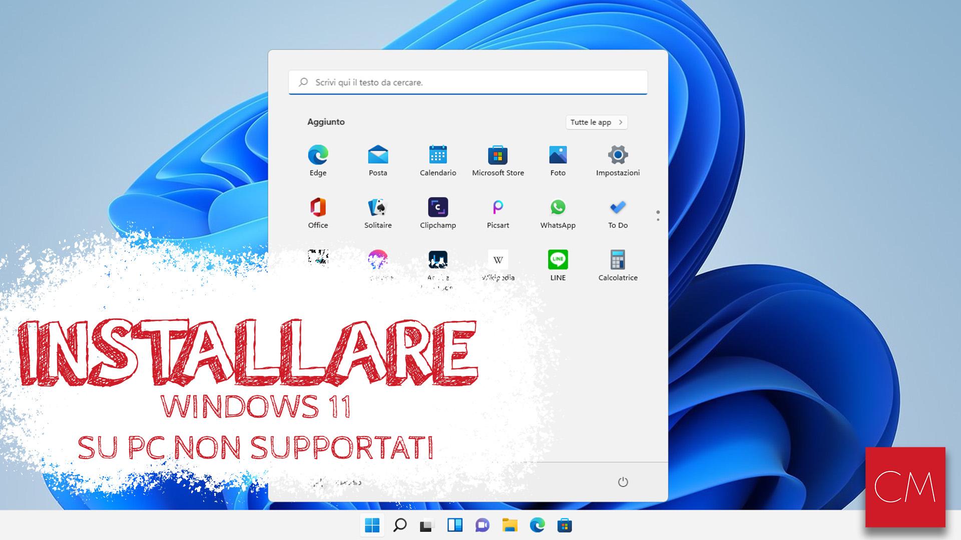 Come Installare Windows 11 su PC non supportati